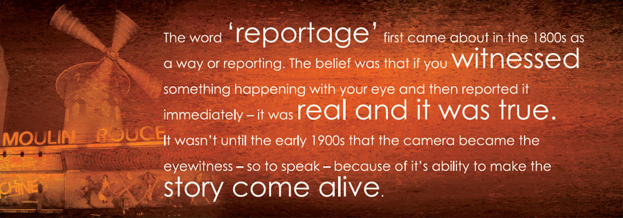 What is reportage?